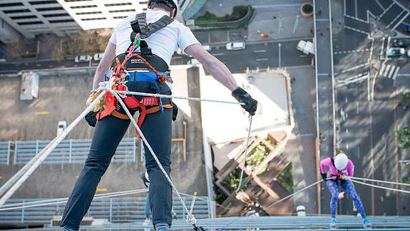 """View from the top of the building!When I was at the top of the building looking down, I was the most scared I have ever been in my life. My brain kept telling me """"You can't do it"""" . I almost believed it too... But I breathed deeply and reminded myself that I can do it. And I did!"""