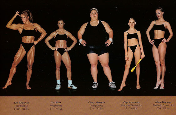 There is no one healthy body type.                                                                       Photographer Howard Schatz's work