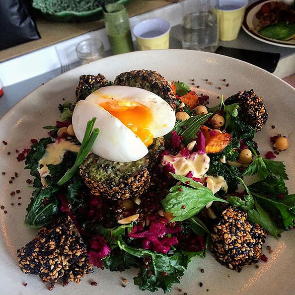 Pictured: The Green Breaky with Falafel