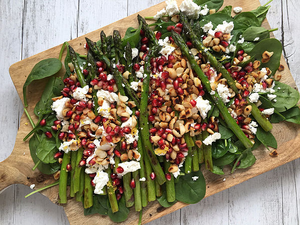 Try my Grilled Asparagus and Pomegranate Salad!