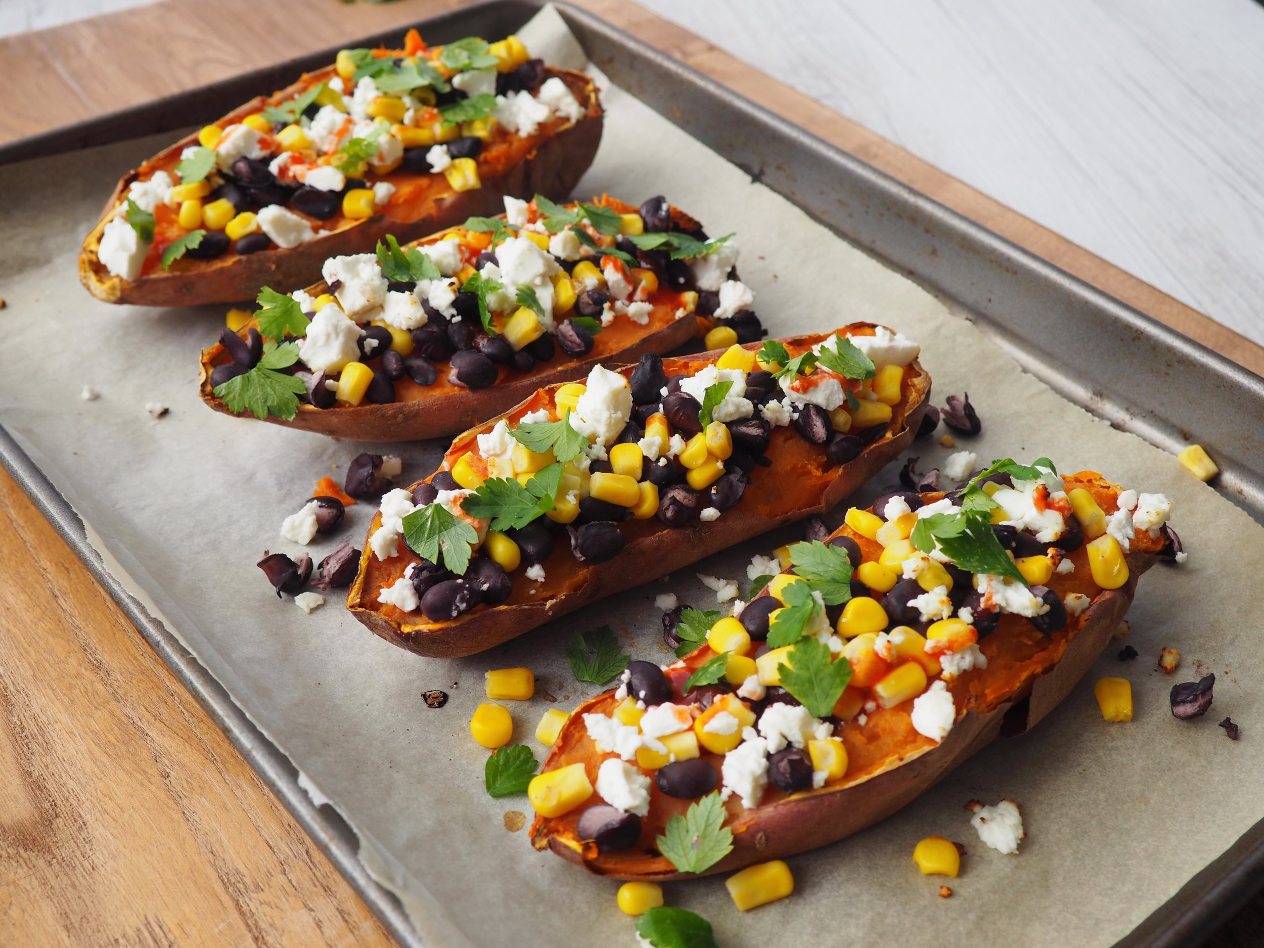 Mexican Sweet Potato Boats Black beans healthy recipe