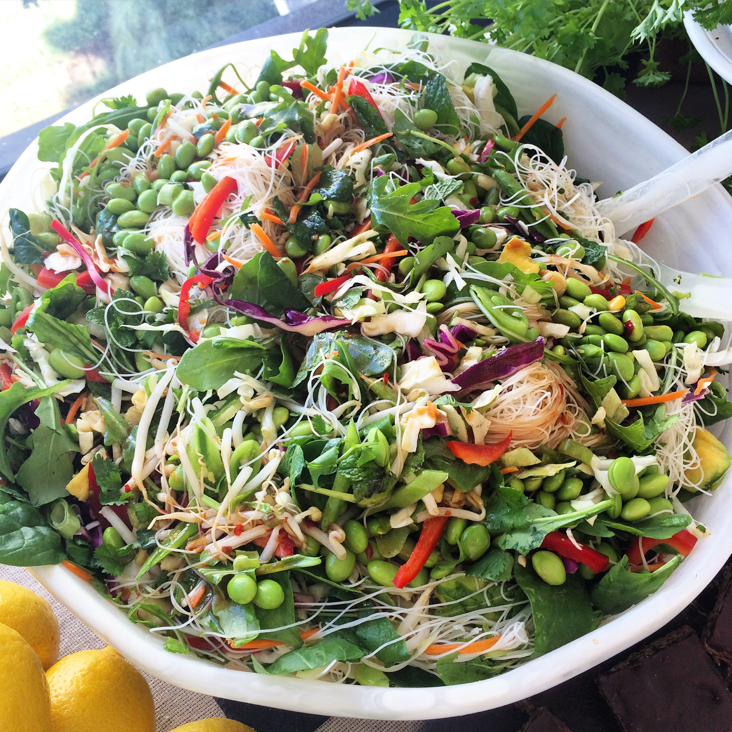I made this salad for a special occasion so I doubled the recipe - thus the massive bowl.