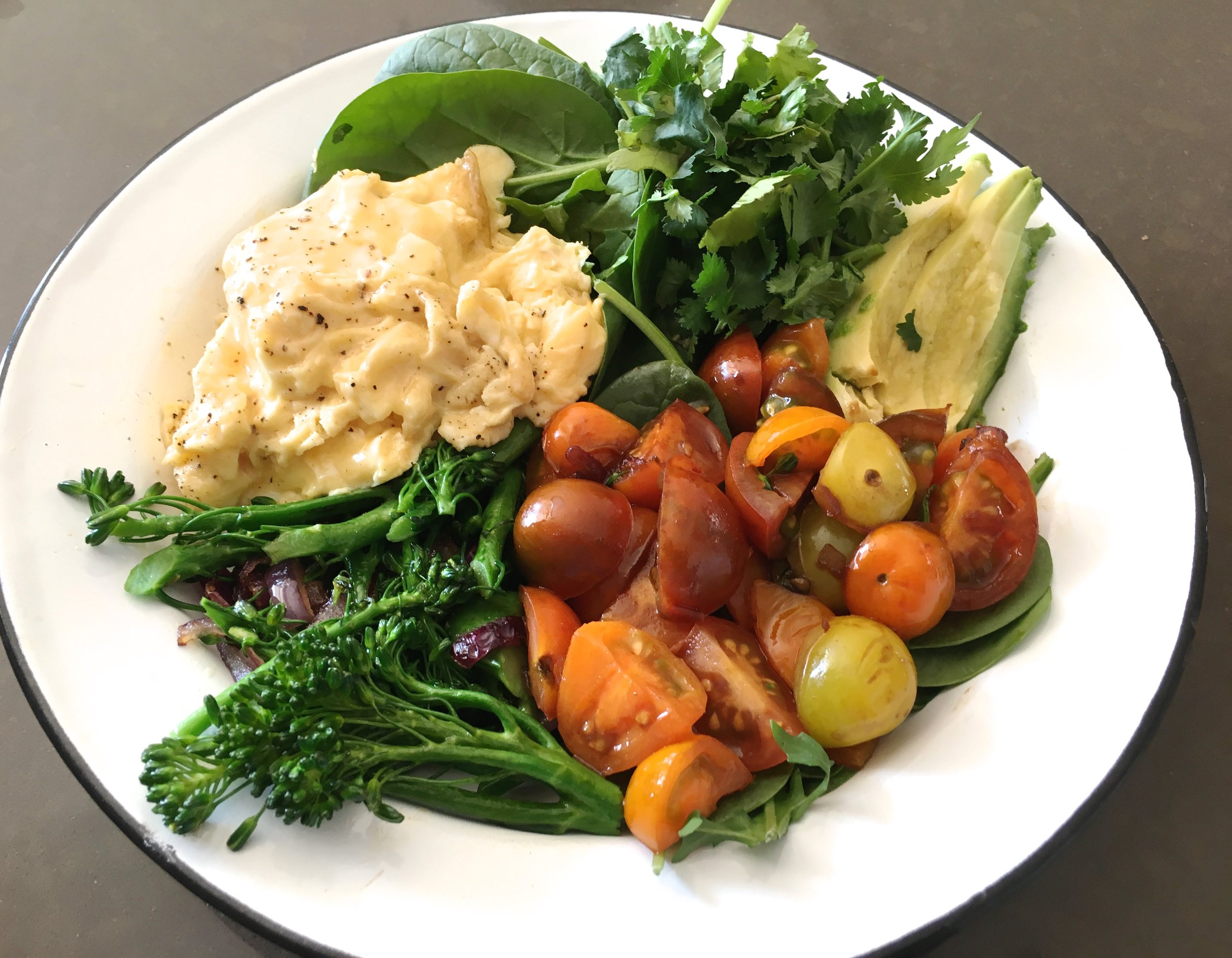 Healthy breakfast bowl rainbow
