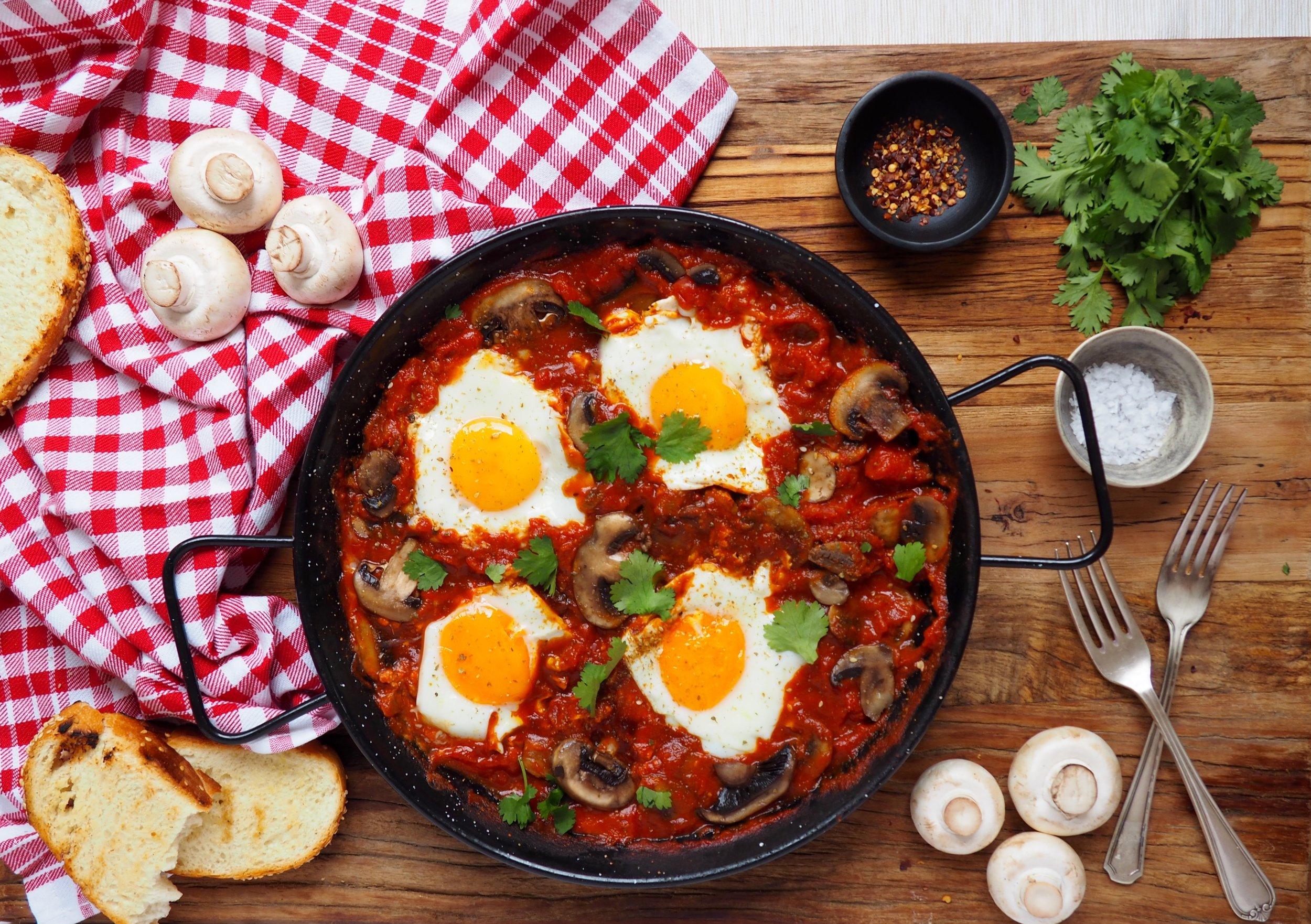 Mushroom Shakshuka healthy breakfast