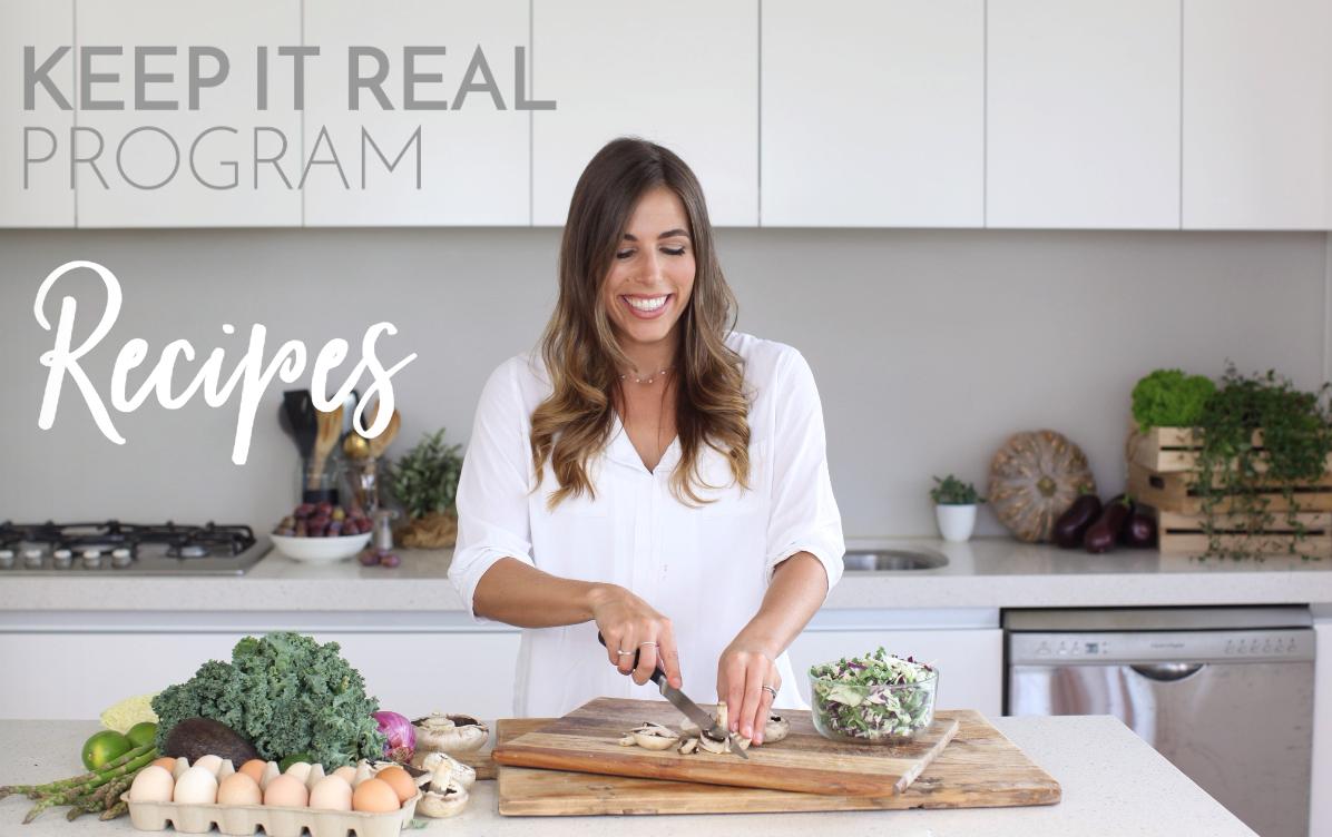 Keep It real Program recipes