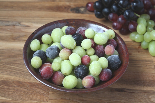 Frozen grapes are delicious and a great way to fill up on fruit.