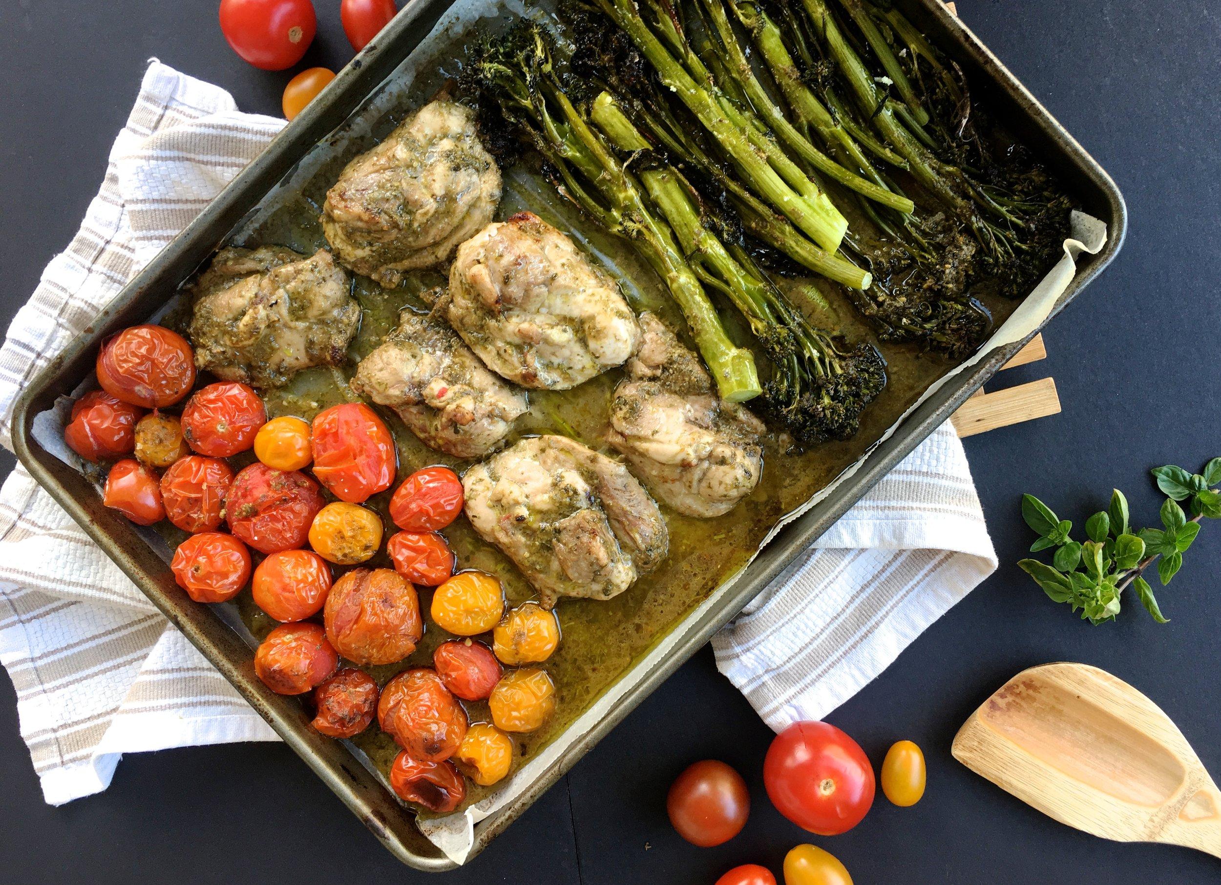 One-tray Balsamic Pesto Chicken recipes.jpg