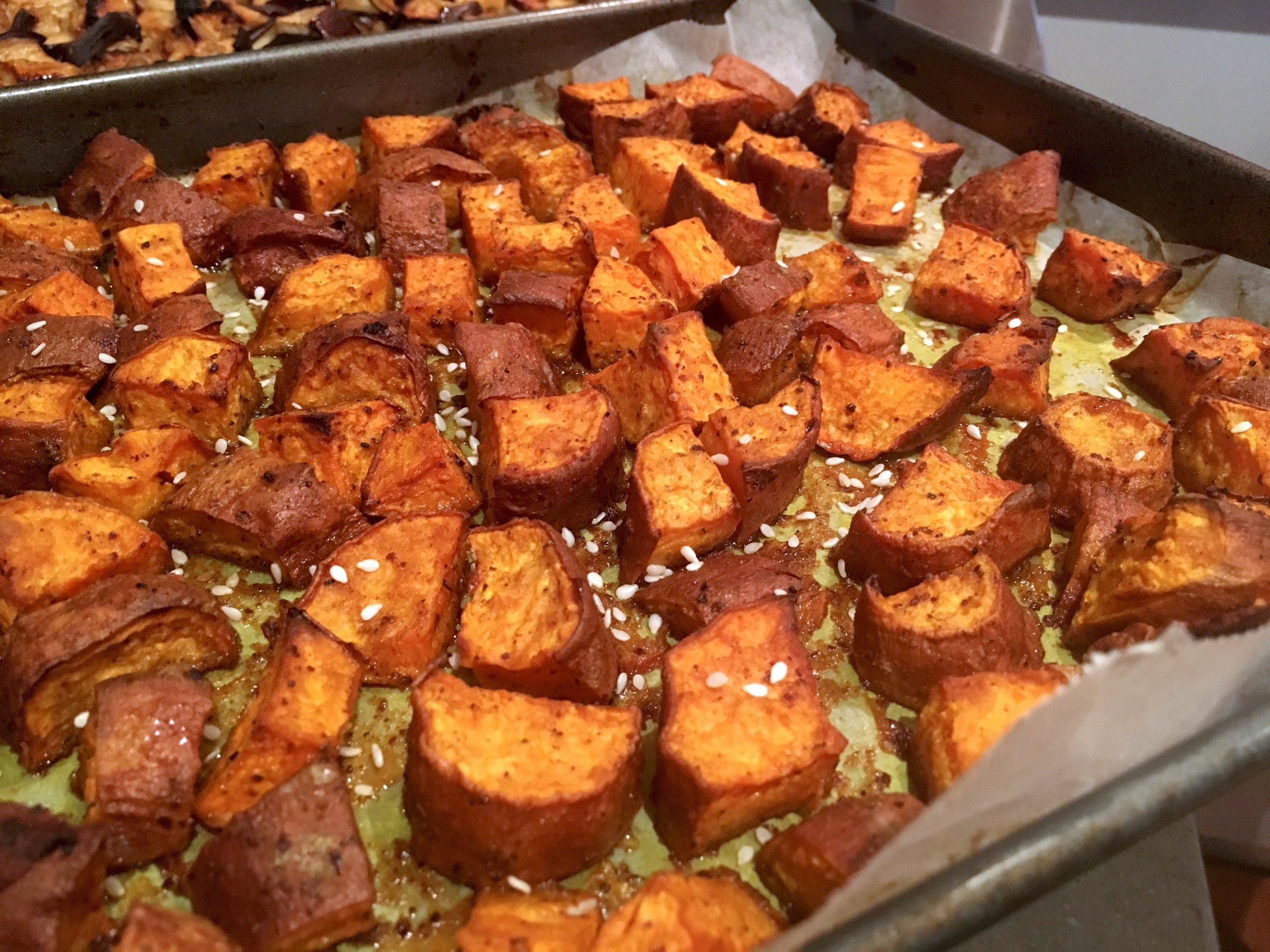 Healthy baked sweet potato recipe
