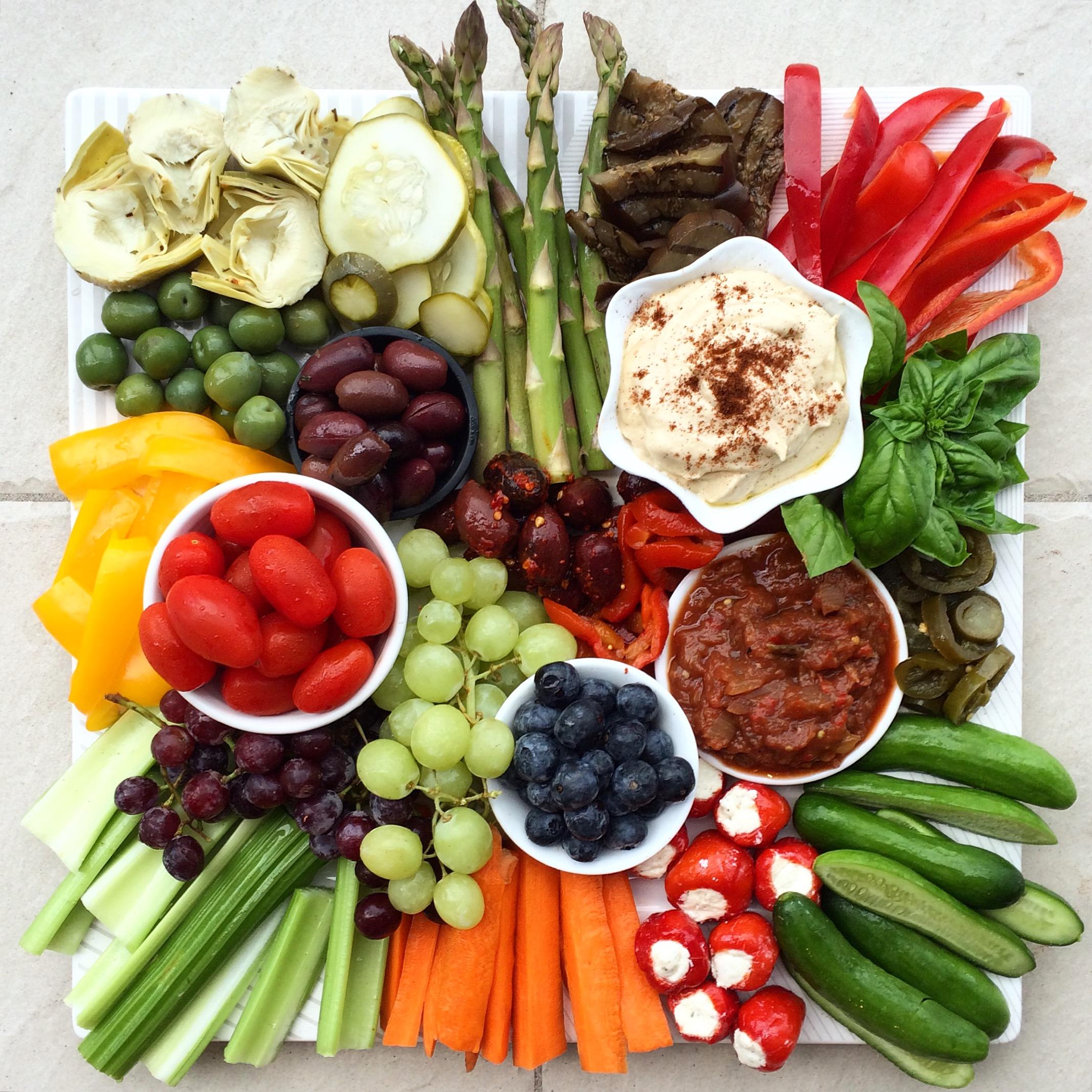 Healthy eating platter
