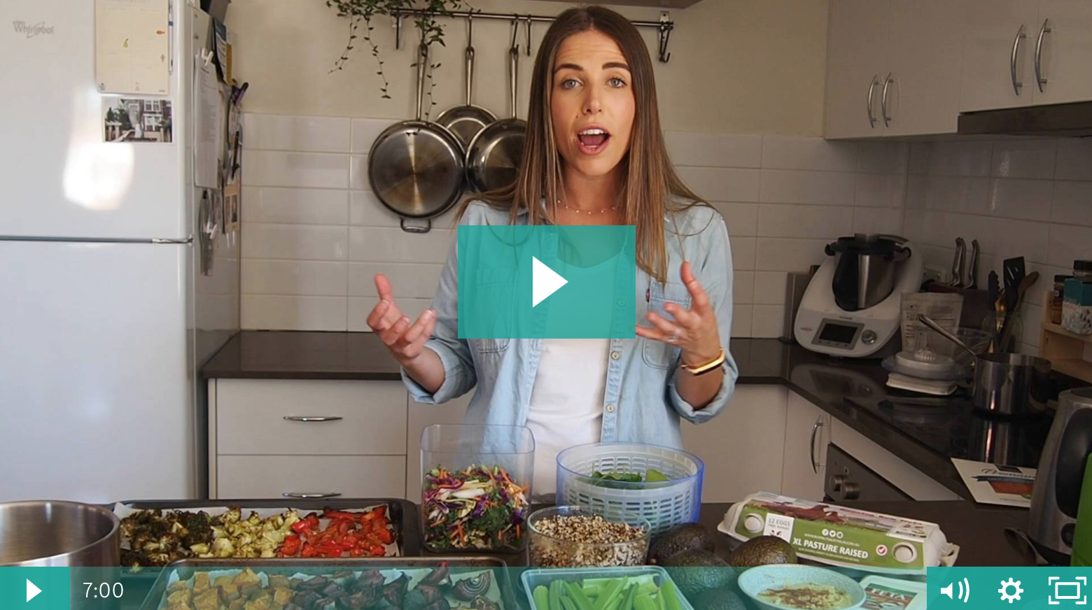 Learn how to meal prep like a pro by watching videos in Keep It Real Program.