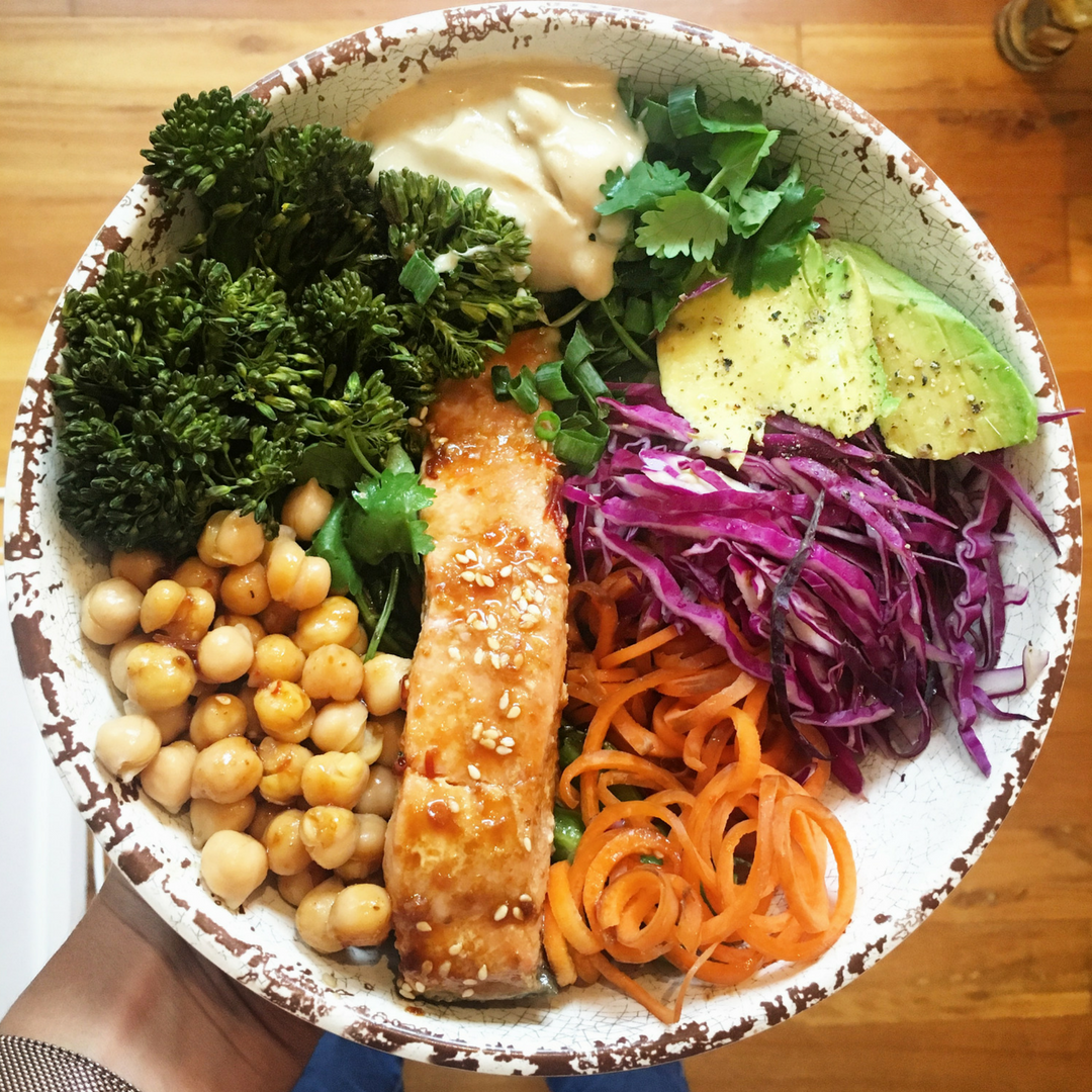 Get the recipe for my Teriyaki Salmon Bowl and sneak in some legumes.