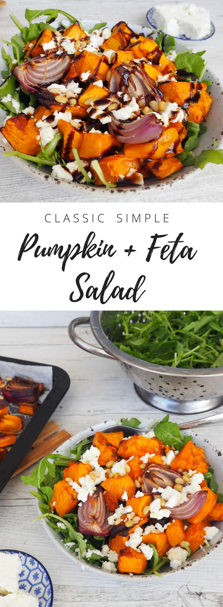 Classic Pumpkin and Feta salad recipe by Lyndi Cohen