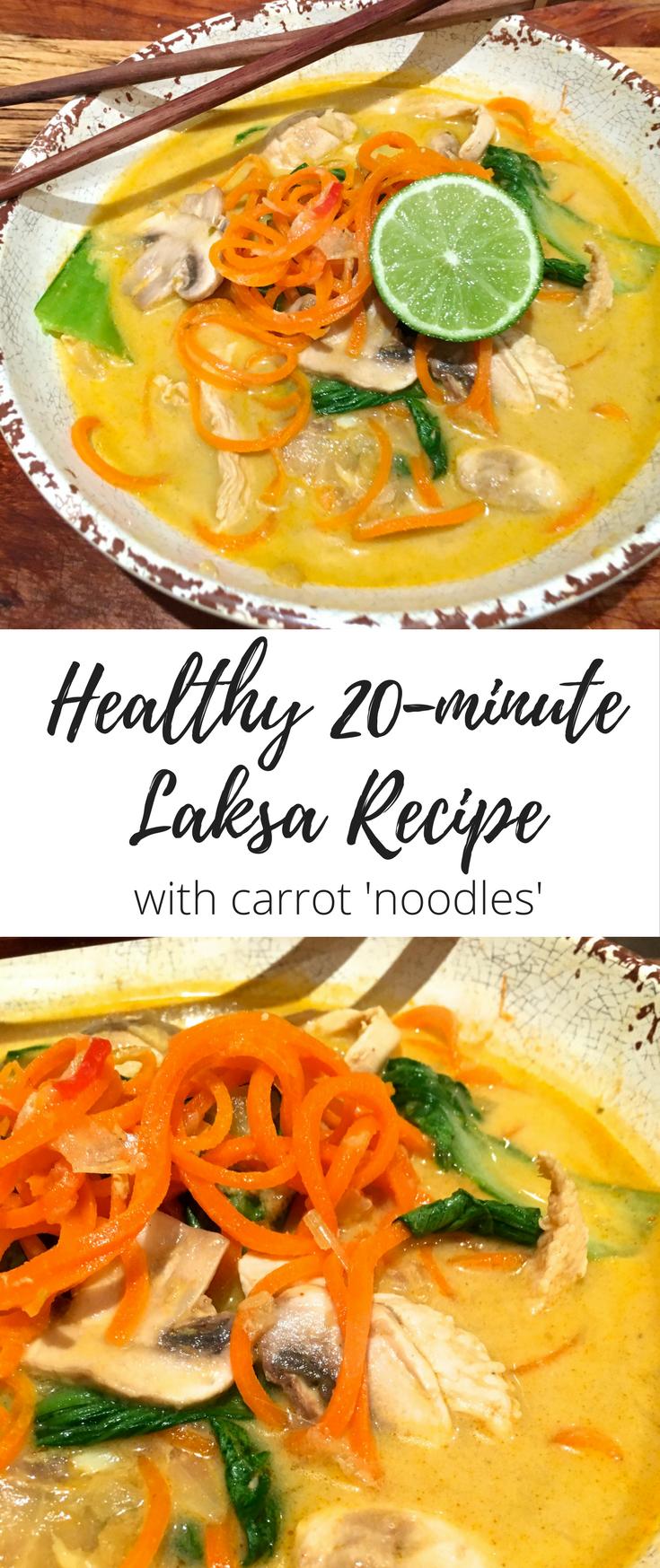 Healthy laksa recipe