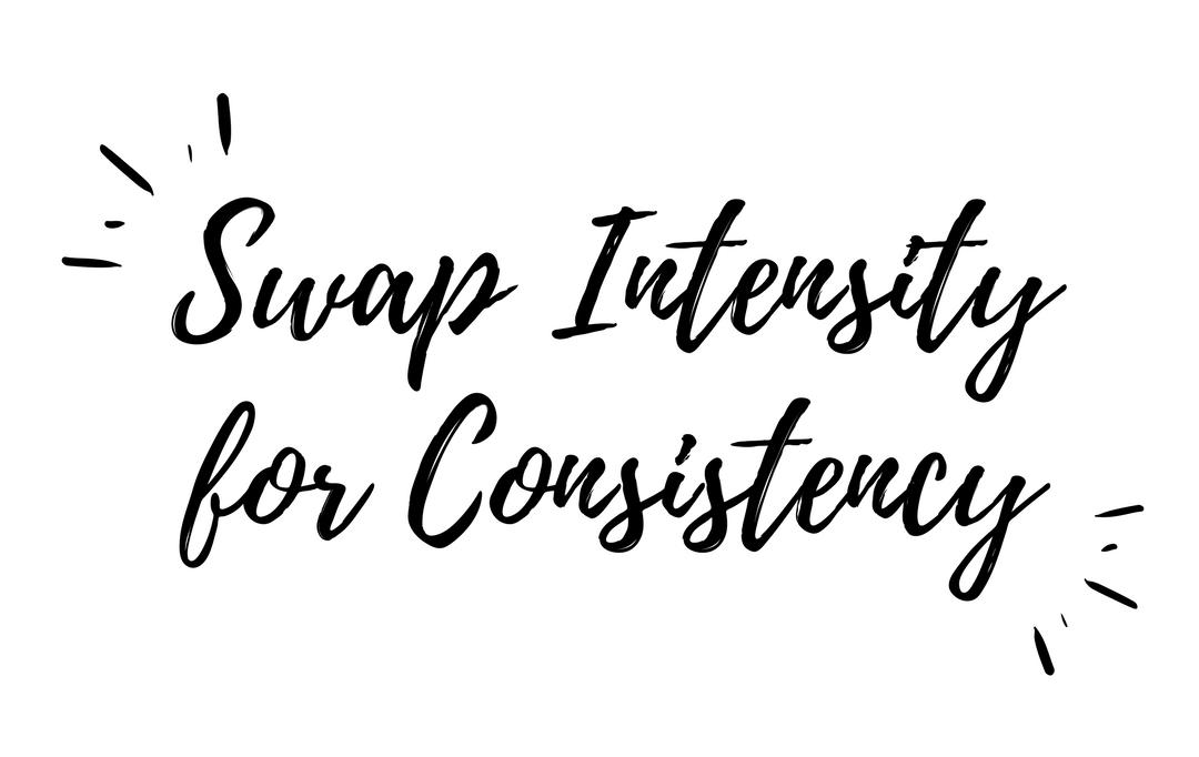 Swap intensity for consistency