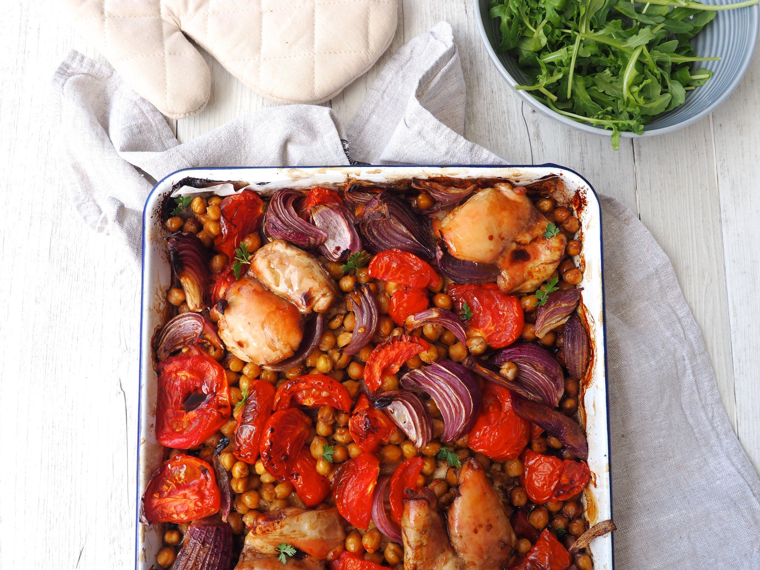 One tray balsamic Chicken Recipe Lyndi Cohen easy healthy recipe .JPG