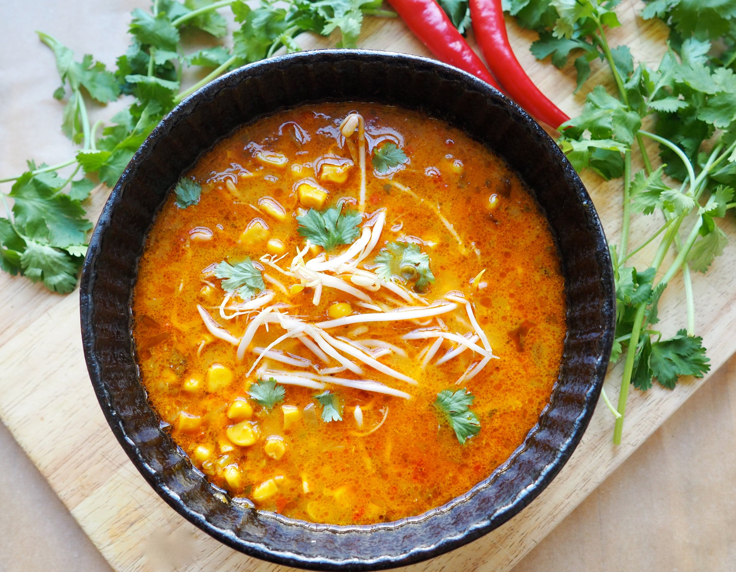 Thai Corn Soup Recipe - Healthy