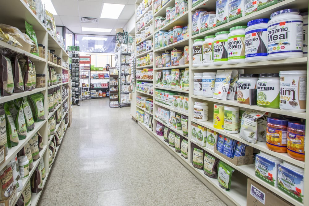 Health food aisle