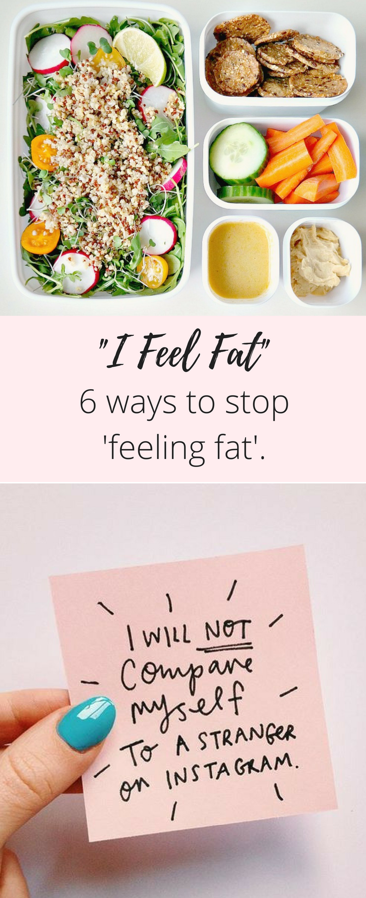 How to stop feeling fat.