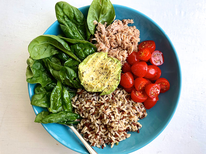 Image: My lunch bowl with SunRice SuperGrains