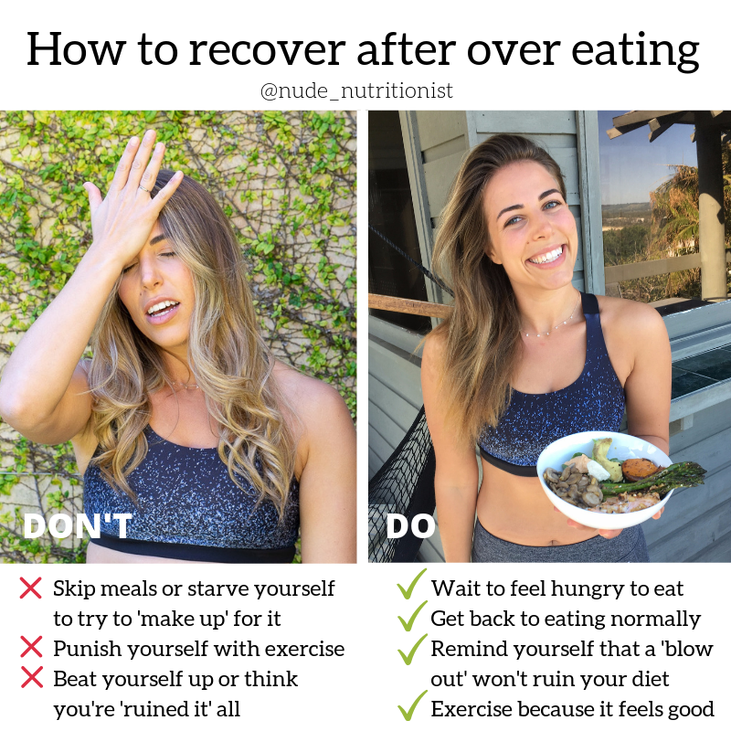 You can recover from over eating.
