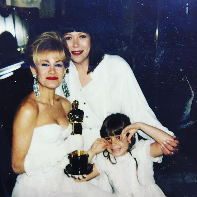 #tbt to the beginning of it all. My mother is also a #promua which is how I ended up as a #makeupartist I always looked up to my mother and had an adventurous childhood growing up on film sets, it feels like a second #home. 🎬 To keep me out of trouble, she would have me cut sponges into wedges for her or put a #tattoo on me so I could color it in. 🎨 That was back before pre-cut sponges and colored water transfer tattoos. Those were the days! So in honor of #mothersday here's to the woman that guided me to be where I am today 💕 #momma #mom #oscars #micahdoesmakeup