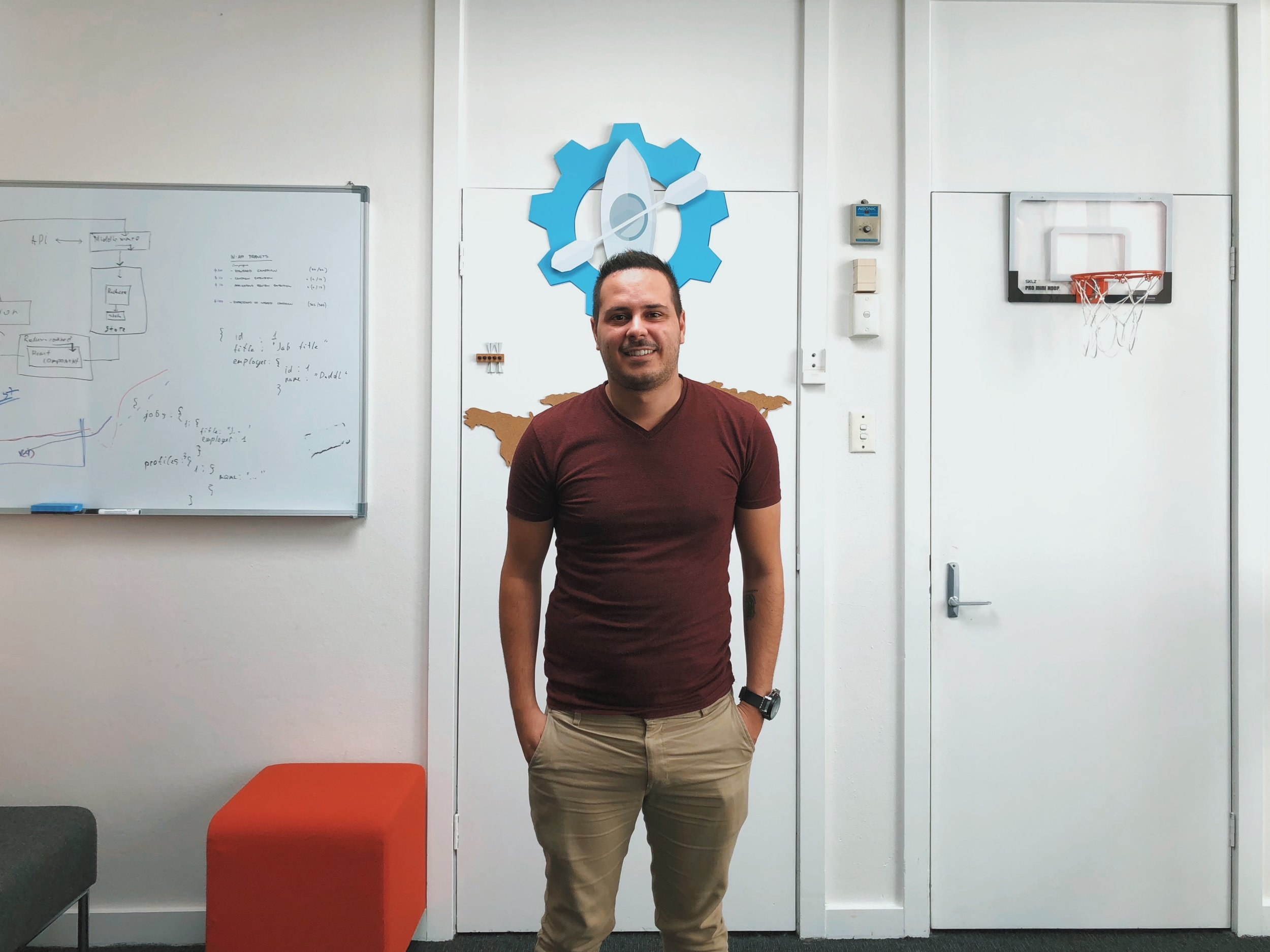 Panagiotis on a visit to our offices last month