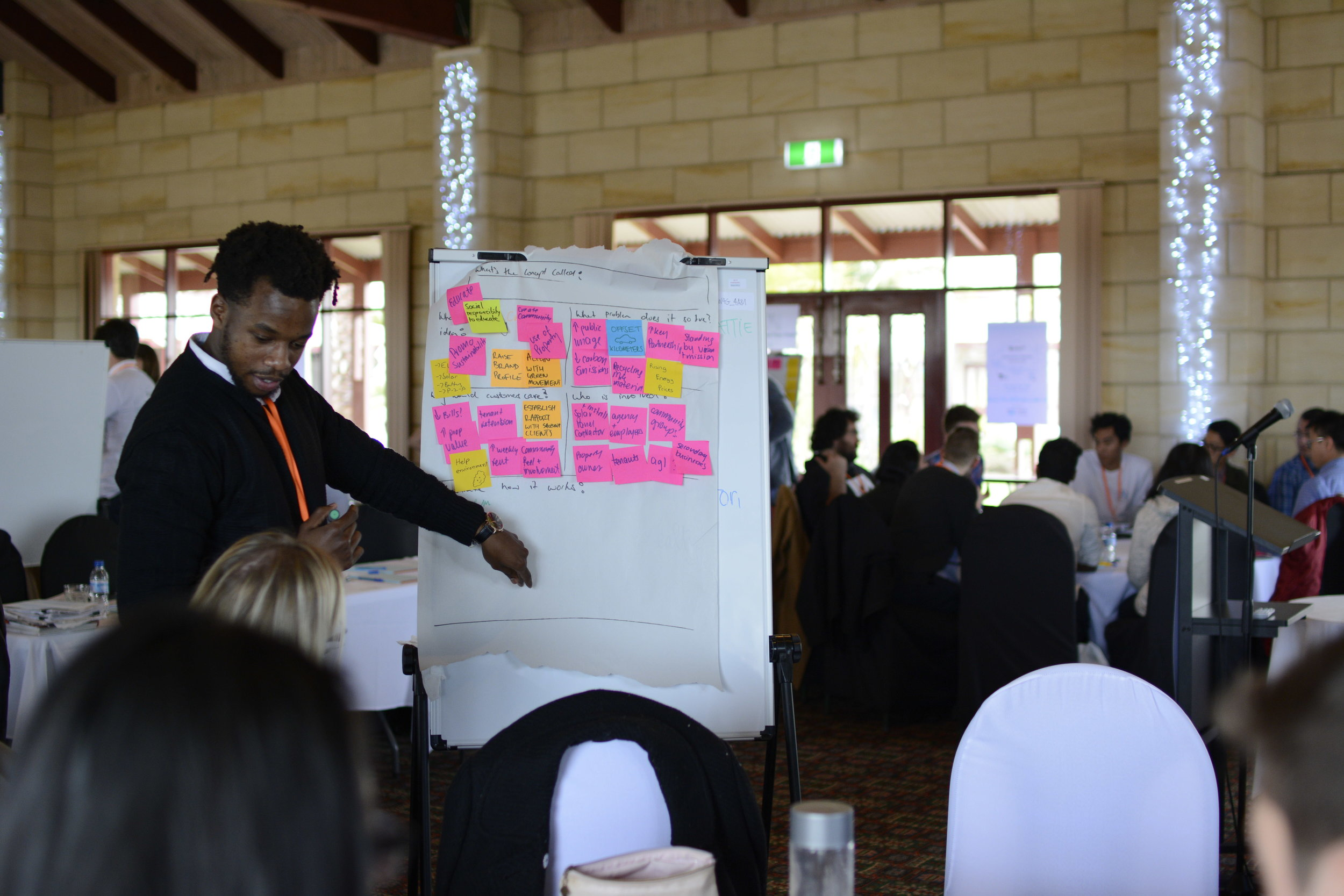 Our teams raced to finalise their solutions and presentations for judging by our panel