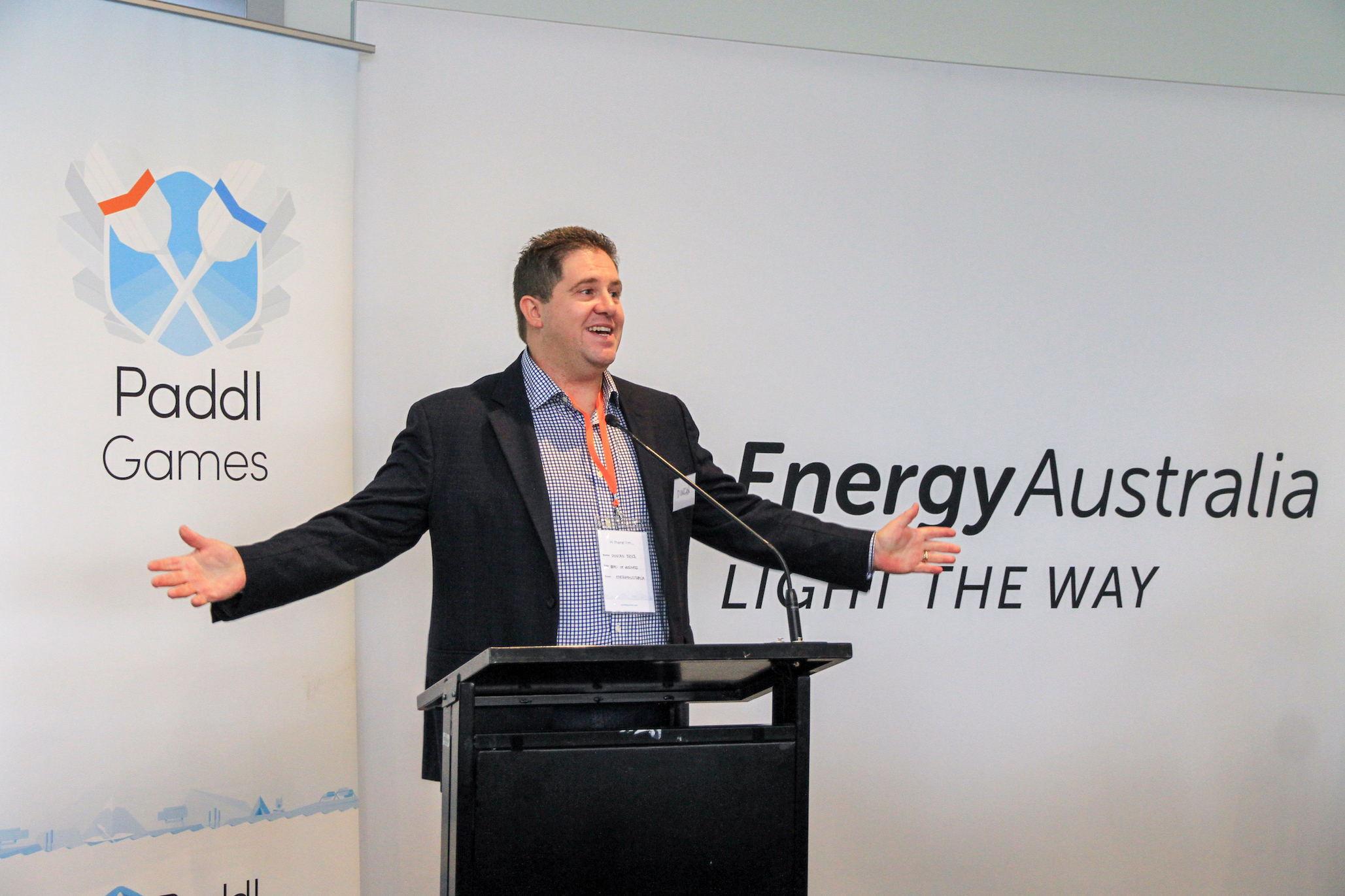 Duncan Bryce, Head of Business at EnergyAustralia, kicks off the day with enthusiasm