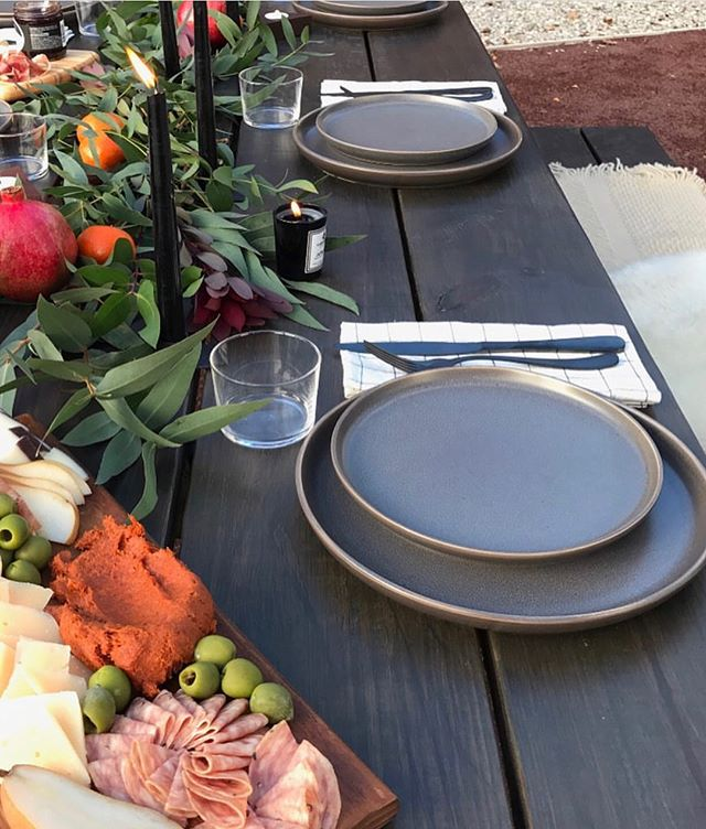Ryan Murphy (@rymurf) set a BEAUTIFUL table for the good folks of @catfootwear and included Jefferson Votive Glass Candles. Will Firebrand Candle be a part of your decor this season?