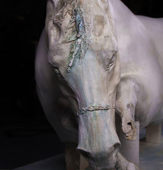 Asunder | 🐴🔗 #ceramics #ceramic #clay #mica #ceramicsculpture #sculpture #horse #ceramichorse #horsesofinstagram #pennstate #claybyday #ceramaland #art #comtemporaryceramics