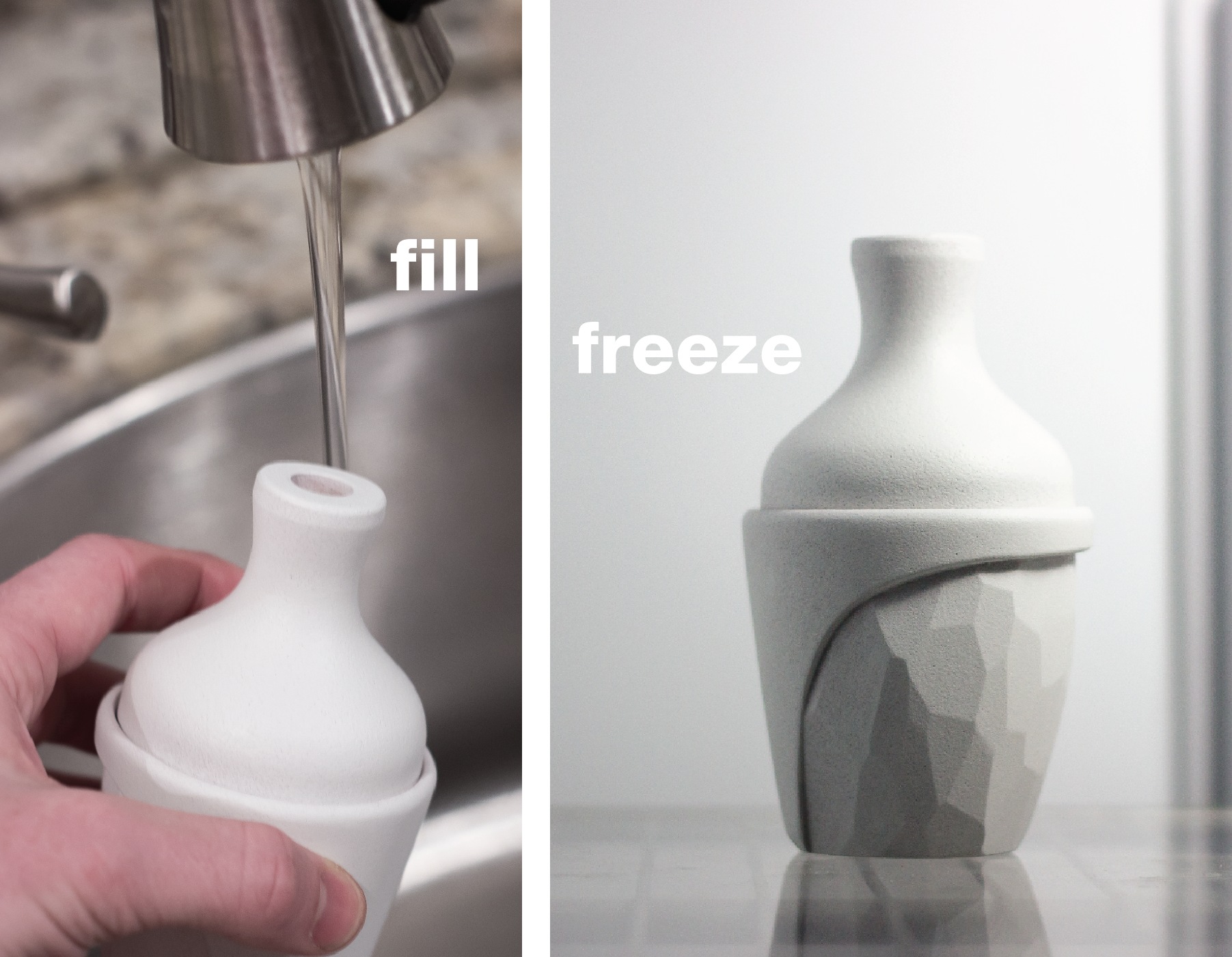 Fill the bottle with water and pop it in your freezer. Simple.