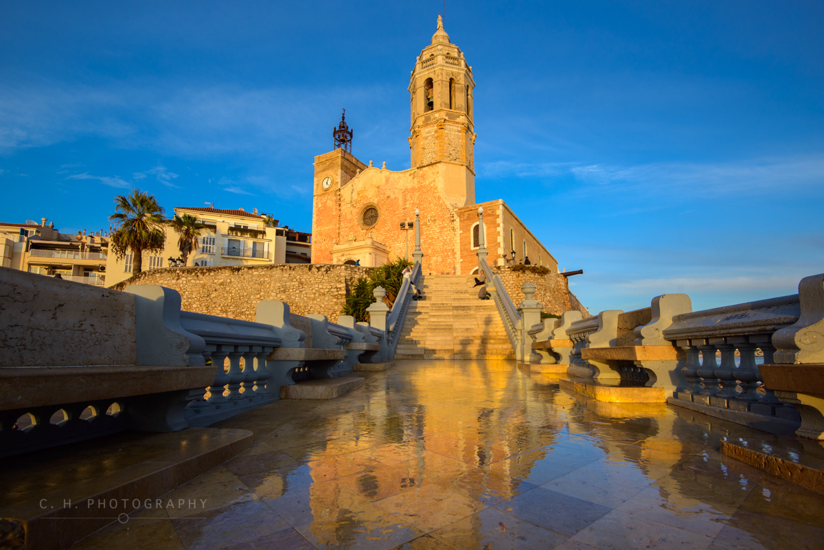 Church Reflection - Sitges, Spain