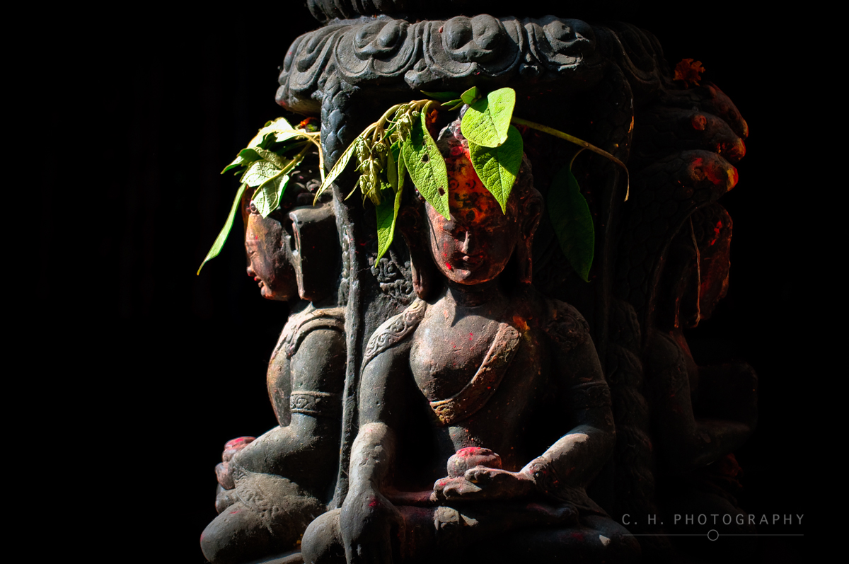 Old Sculpture - Kathmandu, Nepal