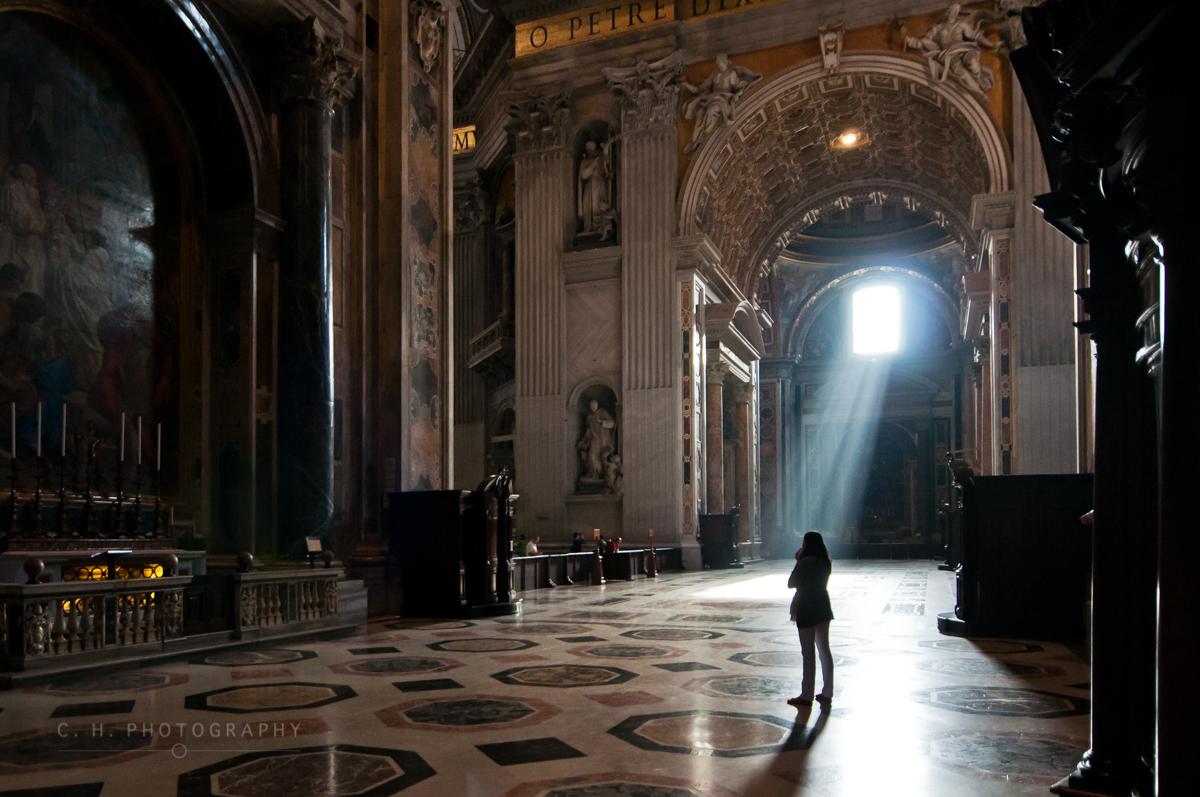 Inside St Peter's Basilica - The Vatican