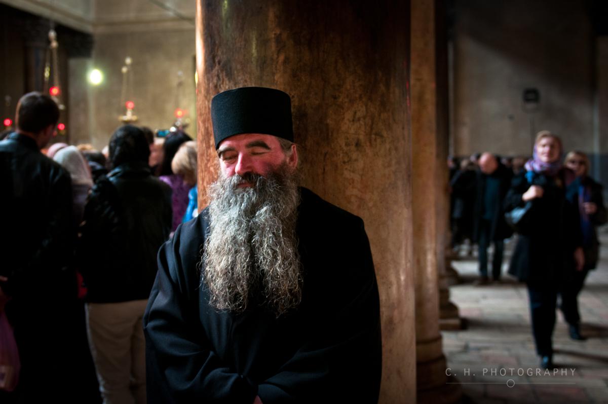 Sleeping Priest - Bethlehem, Palestine