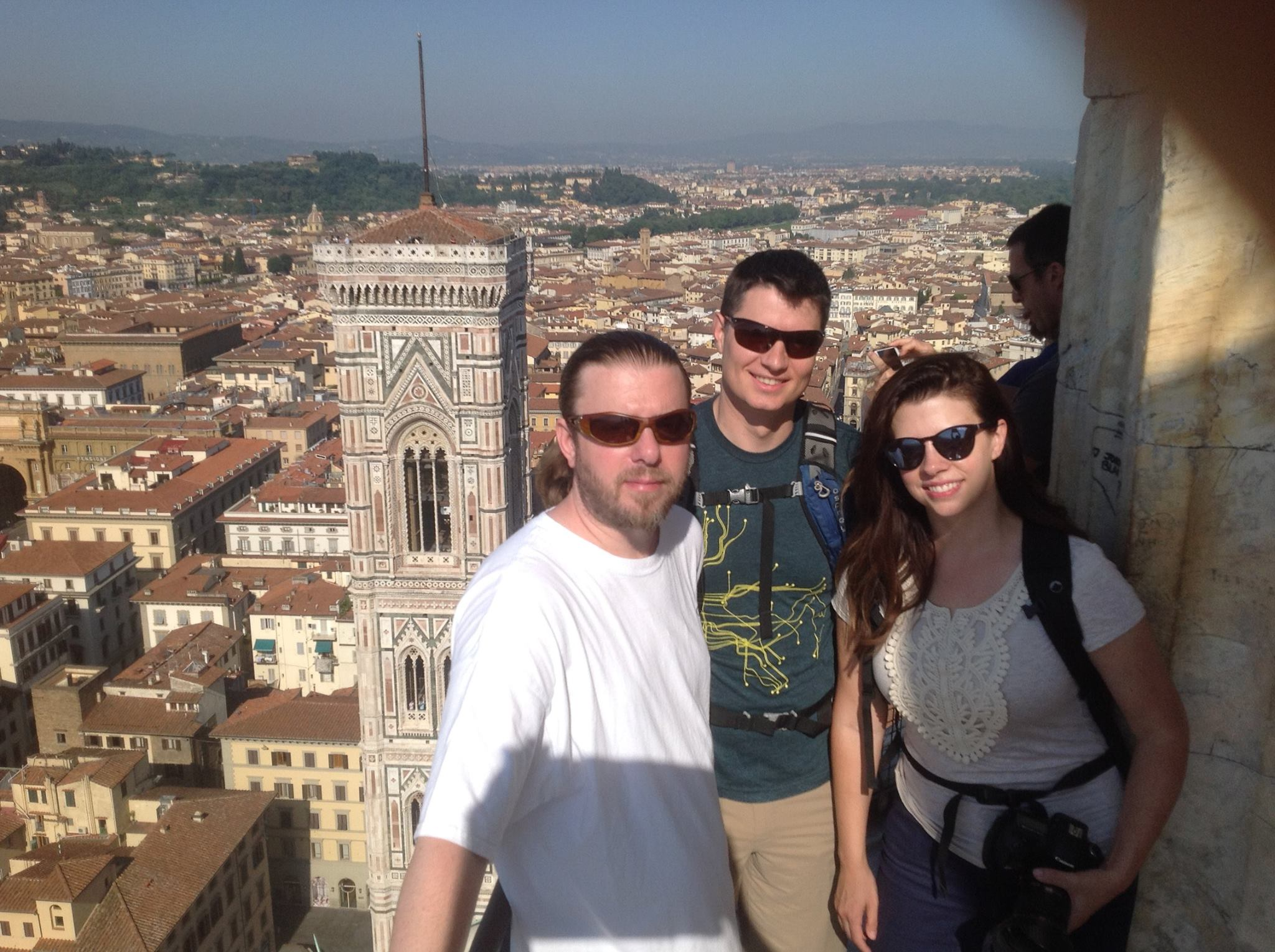 Florence 2016 - My brother Kelly and brother-in-law Rob with my sister Breanna, when they came to visit me in Amsterdam and we all went together to Florence and Cinque Terre, Italy.