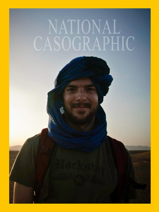 In the Sahara Desert feeling inspired by my favourite magazine.