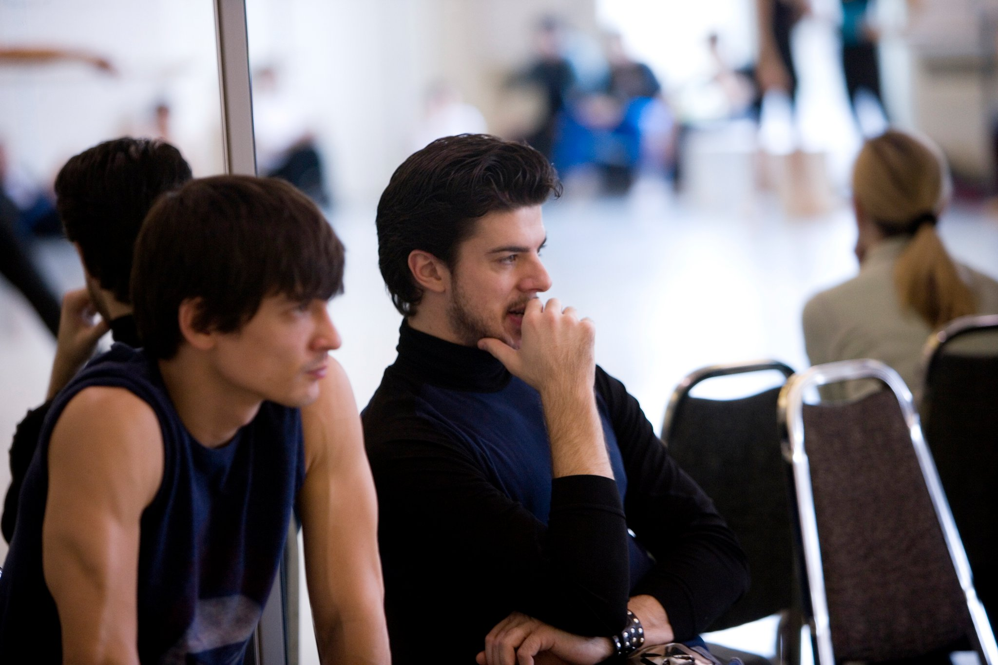 Rehearsing Romeo & Juliet with James as Romeo me as Tybalt. Photo by Angela Sterling