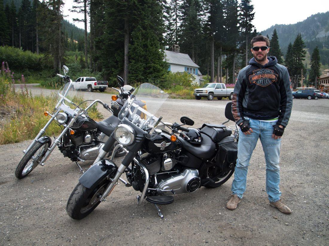 Riding around the Northwest on Harleys with James.
