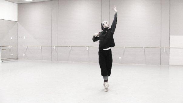 Rehearsing La Bayadere.