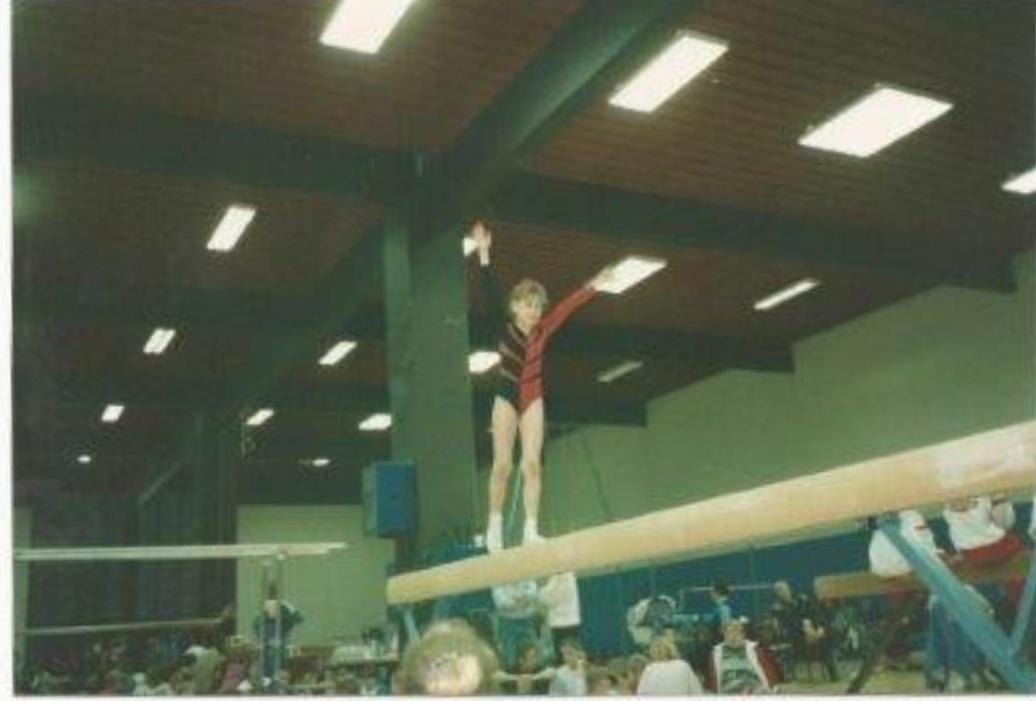 #tb til 90'ernes gymnastik på disciplinen bom!