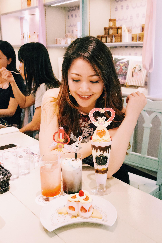 sailor moon q-pot cafe harajuku tokyo japan