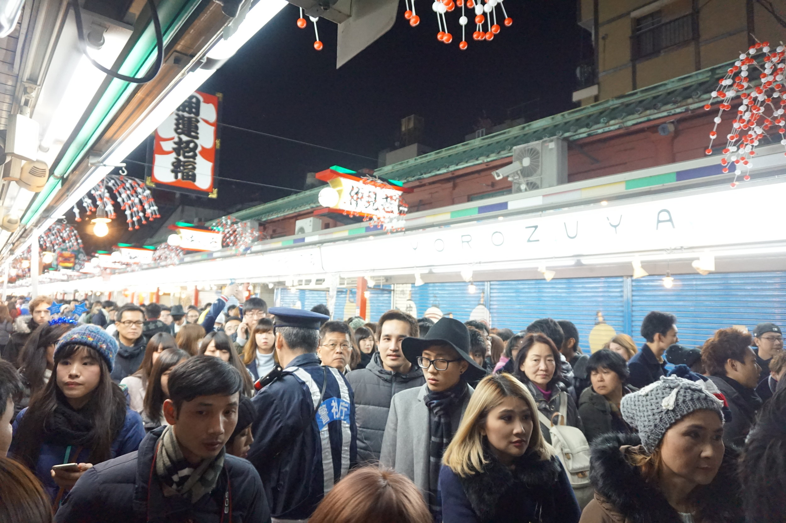 tokyo new year's eve sensoji countdown heelsonthego