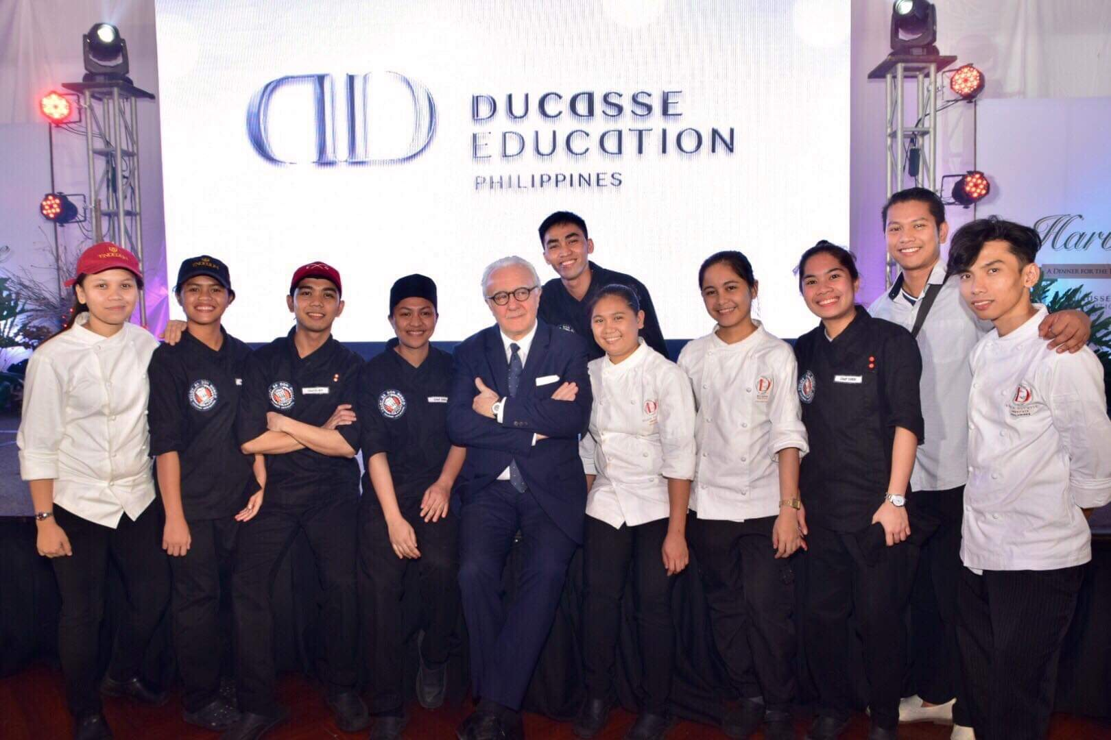 Chef Alain Ducasse with Tuloy and Youth with a Future Graduates