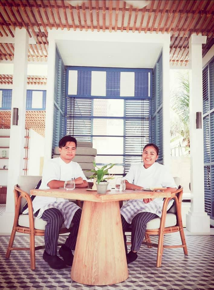 Our Ducasse scholars, Willie Alagon and Shaira Mae Sarion are working in Raffles Maldives! -