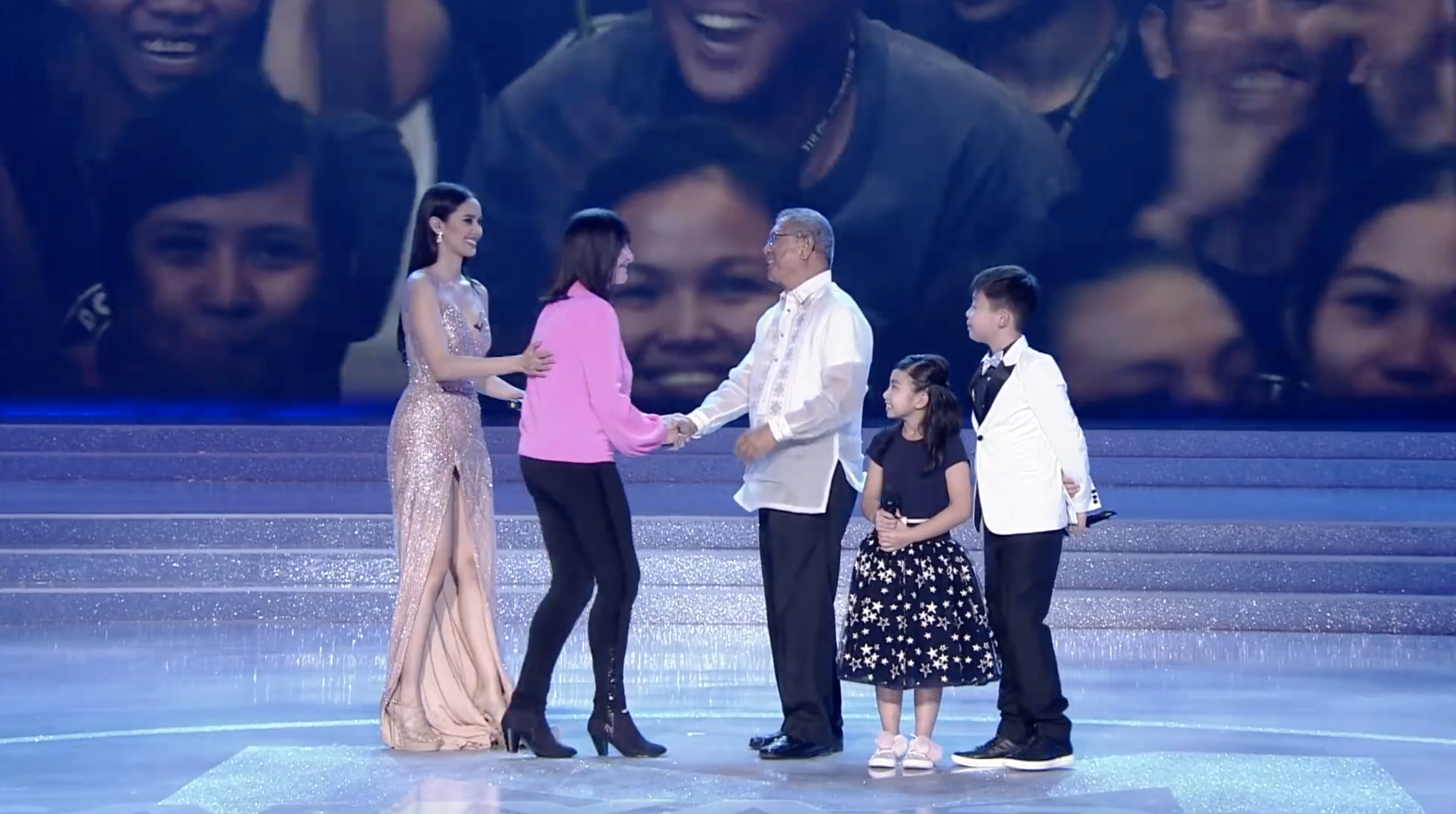 Father Rocky was awarded the International Humanitarian award 2017 by Julia Morley during the Miss World coronation night in Sanya, China