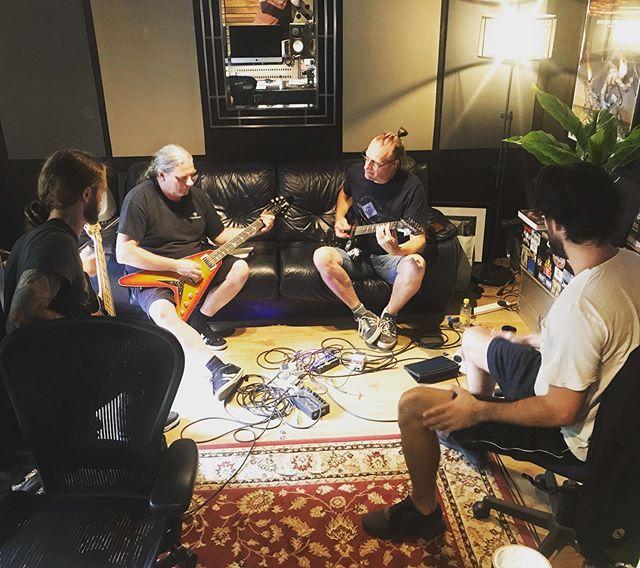 Benediction grinding out the arrangements. 👌 #metalrecording #recordingstudio #metalmusic #deathmetal #newalbum #metalproducer