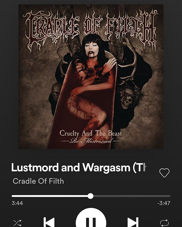 The first song from the Cruelty & The Beast remix is finally out... I hope fans old and new are digging it. Please let me know your thoughts. Can't wait to see the vinyl packaging! I'll write more about the remix when the album is released. #cradleoffilth #cruelty&thebeastremistressed #cradleremix #danifilth #crueltyremix