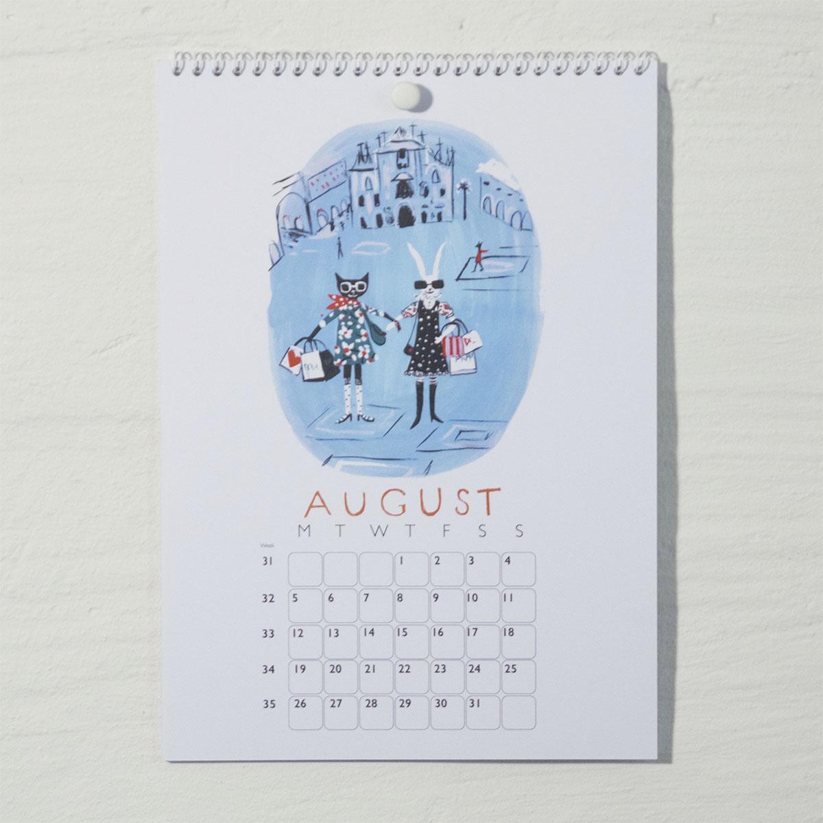 Susse Collection shop Calendar 2018 . 8