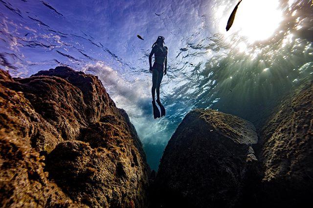 @milla.nordahl (15) er på ferie med pappa, klubbmedlem og instruktør Aleksander. Her dykker hun i bølgene på Sardinia. Klubbens medlemmer bruker ferien i havet. Gjør du? Send bilder til oss her på Instagram så deler vi🙏🤙 @spearos_oslofjord @frivannsliv @fridykker_com @norgesdykkeforbund #fridykking #spearos_oslo